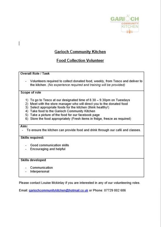Tesco Food Collection Vacancy