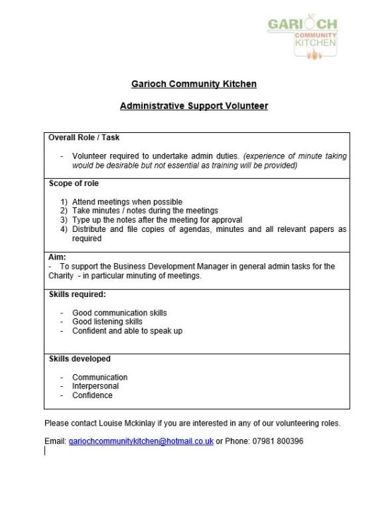 Administration Support Vacancy