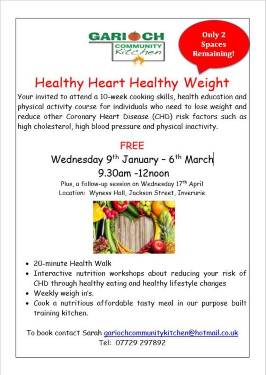 Healthy Heart Healthy Weight Course Jan 19
