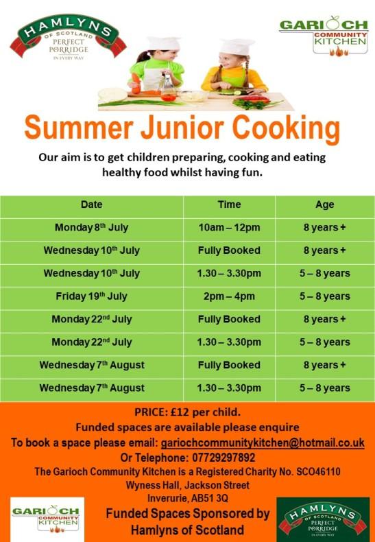 Summer Junior Cooking 2019