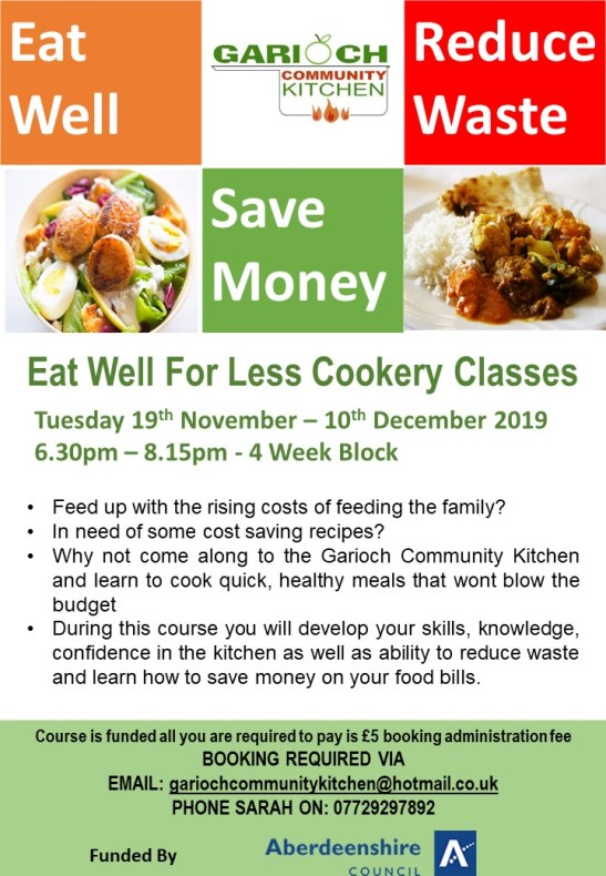 Eat Well For Less Cookery Classes Nov 19
