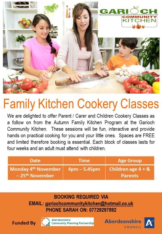 Family Kitchen Cookery Classes Nov 19