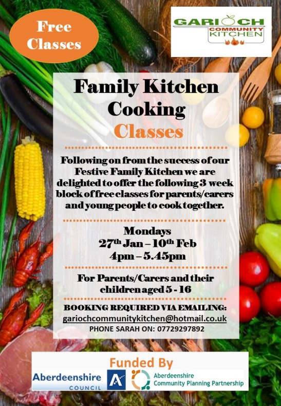 Family Kitchen Cooking Classes Jan 2020