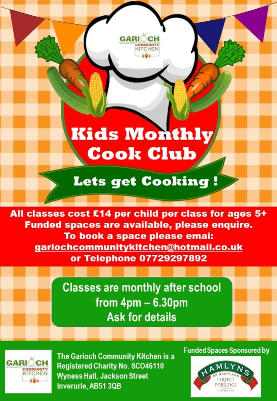 Kids Monthly Cookery Club