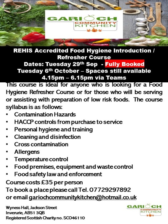 Refresher Food Hygiene Course Sep 2020